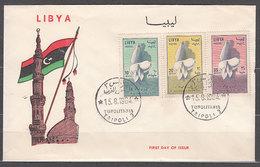 Libia - Correo 1964 Yvert 237/9 Sobres 1� D�a Fauna Mariposas - Libye