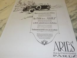ANCIENNE PUBLICITE VOITURE 8 CV ET 10 CV ARIES 1925 - Manifesti