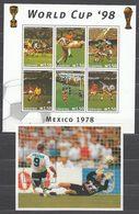Lesotho - Correo Yvert 1234/9+Hb 124 ** Mnh  Deportes F�tbol - Lesotho (1966-...)