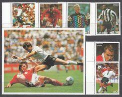 Lesotho - Correo Yvert 1228/33+Hb 123 ** Mnh  Deportes F�tbol - Lesotho (1966-...)