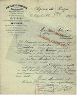1892 NAVIGATION TRANSPORTS NEGOCE BATEAUX VAPEUR CIE GENERALE DE NAVIGATION LYON LE POUZIN = Serves (Drome) TEXTE - France