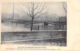 75 - PARIS 05 ° - INONDATIONS De PARIS ( Janvier 1910 ) Quai St Bernard - Entrepôts Des Grands Moulins De Corbeil - CPA - De Overstroming Van 1910
