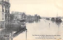 75 - PARIS 16 ° - INONDATIONS De PARIS ( Janvier 1910 ) Quai D'Auteuil - Lanternes Des Becs De Gaz ... - CPA - Seine - De Overstroming Van 1910
