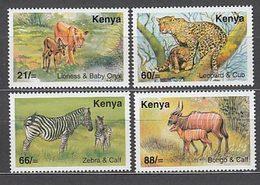 Kenya - Correo Yvert 752/5 ** Mnh  Fauna - Kenya (1963-...)