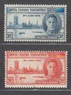 Kenya-Uganda - Correo Yvert 71/2 ** Mnh - Kenya, Oeganda & Tanganyika