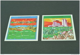 M1931  -2  Blocs  MNh -Libya- 1979- SC. 825-826- Sept. 1st. Revolution ,10th. Anniv. - Monument And Green Book - Libya