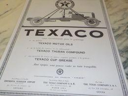 ANCIENNE PUBLICITE GRAISSAGE  HUILE   TEXACO   1925 - Transportation
