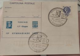 Cartolina Postale Torino Gymnasiade 1980 Cerimonia Di Apertura - Stadiums & Sporting Infrastructures