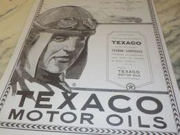 ANCIENNE PUBLICITEGAMME DE PRODUIT  MOTOR OILS  TEXACO   1925 - Transportation