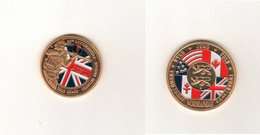 Jeton Medaille   Gold Beach   50eme Northumbrian Division Infantry  Juin 1944 - Tourist