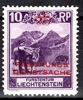 Liechtenstein Timbre De Service YT N° 2 Neuf ** MNH. TB. A Saisir! - Dienstpost