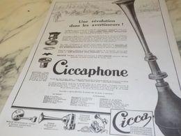 ANCIENNE PUBLICITE UNE REVOLUTION  CICCA 1925 - Manifesti
