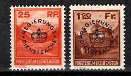 Liechtenstein Timbres De Service YT N° 9/10 Neufs ** MNH. TB. A Saisir! - Dienstpost