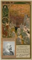 CHROMO LEFEVRE UTILE LU  CELEBRITES JEAN CHARCOT ART NOUVEAU 17 X 9 CM GAUFREE RELIEF - Lu