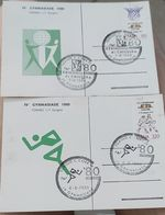 Cartolina Gymnasiade 1980 Torino La Prima Cartolina Timbro Di Chiusura. - Stadiums & Sporting Infrastructures
