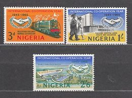 Nigeria - Correo Yvert 191/3 ** Mnh   Trenes - Nigeria (1961-...)