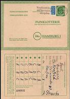 Germany - FUNKLOTTERIE Ganzsache Postkarte (MiNr. FP 3) KREFELD 21.3.1952 - Hamburg. - Postkarten - Gebraucht