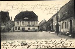 Cp Wartenberg Schlesien, Markt, Gasthaus Goldner Stern, Schuhmacher O. Piedler - Schlesien