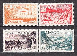Marruecos Frances - Correo 1949 Yvert 271/4 ** Mnh - Marokko (1956-...)