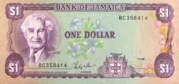 Jamaica 1 Dollar, P-68Ab (1.3.1986) - UNC - Jamaique