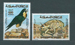 Marruecos Frances - Correo 1973 Yvert 689/90 ** Mnh  Fauna - Marruecos (1956-...)