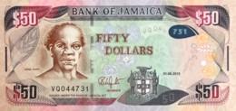 Jamaica 50 Dollars, P-94b (1.6.2015) - UNC - Jamaique