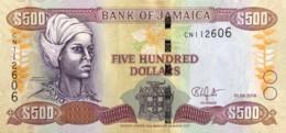 Jamaica 500 Dollars, P-85l (1.6.2018) - UNC - Jamaique