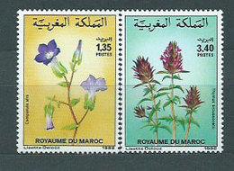 Marruecos Frances - Correo 1992 Yvert 1124/5 ** Mnh  Flores - Maroc (1956-...)