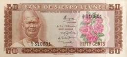 Sierra Leone 50 Cents, P-4b (1974) - UNC - Sierra Leone