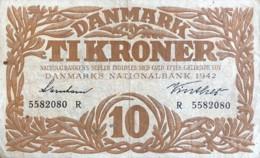 Denmark 10 Kroner, P-31k (1942) - Fine - Signatury Varity 2 - Denmark