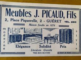 1 BUVARD MEUBLES J.PICAUD - Löschblätter, Heftumschläge
