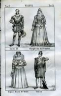 Stampa Incisione Costumi Europa Francia Enrico IV Margherita Maria De' Medici Soldato - Estampas & Grabados