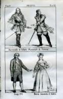 Stampa Incisione Costumi Europa Francia Luigi XVI Maria Antonietaa D' Austria - Estampas & Grabados