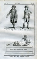 Stampa Incisione Costumi Europa Francia Politici Maresciallo Chabot - Estampas & Grabados
