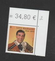 FRANCE / 2020 / Y&T N° 5414 ? ** : Luis Mariano X 1 CdF Sup D - Frankreich