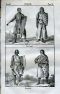 Stampa Incisione Costumi Europa Francia Crociati - Estampas & Grabados