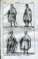 Stampa Incisione Costumi Europa Francia Templari - Estampas & Grabados