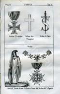 Stampa Incisione Costumi Europa Francia Templari Massoneria - Estampas & Grabados