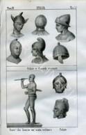 Stampa Incisione Costumi Europa Italia Etruschi - Estampas & Grabados