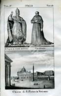 Stampa Incisione Costumi Europa Italia Vaticano San Pietro - Estampas & Grabados