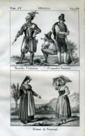 Stampa Incisione Costumi Europa Italia Vaticano Guardia Svizzera Frascati - Estampas & Grabados