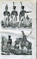 Stampa Incisione Costumi Europa Germania Soldati - Estampas & Grabados