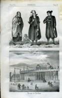 Stampa Incisione Costumi Europa Germania Slesia Berlino Museo - Estampas & Grabados