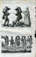 Stampa Incisione Costumi Europa Germania Boemi - Estampas & Grabados