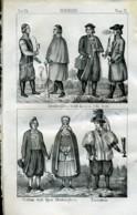 Stampa Incisione Costumi Europa Germania Altenburghesi - Estampas & Grabados