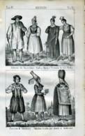 Stampa Incisione Costumi Europa Germania Altenburghesi Sassonia - Estampas & Grabados