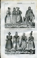 Stampa Incisione Costumi Europa Germania - Estampas & Grabados