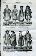 Stampa Incisione Costumi Europa Germania Sternach Amburgo - Estampas & Grabados