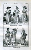 Stampa Incisione Costumi Europa Italia Firenze Venezia - Estampas & Grabados