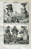 Stampa Incisione Costumi Europa Svizzera Berna Lucerna - Estampas & Grabados